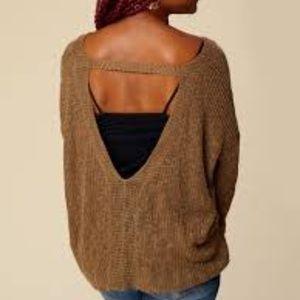 Altar'd State Marita Boho Open Back Sweater M